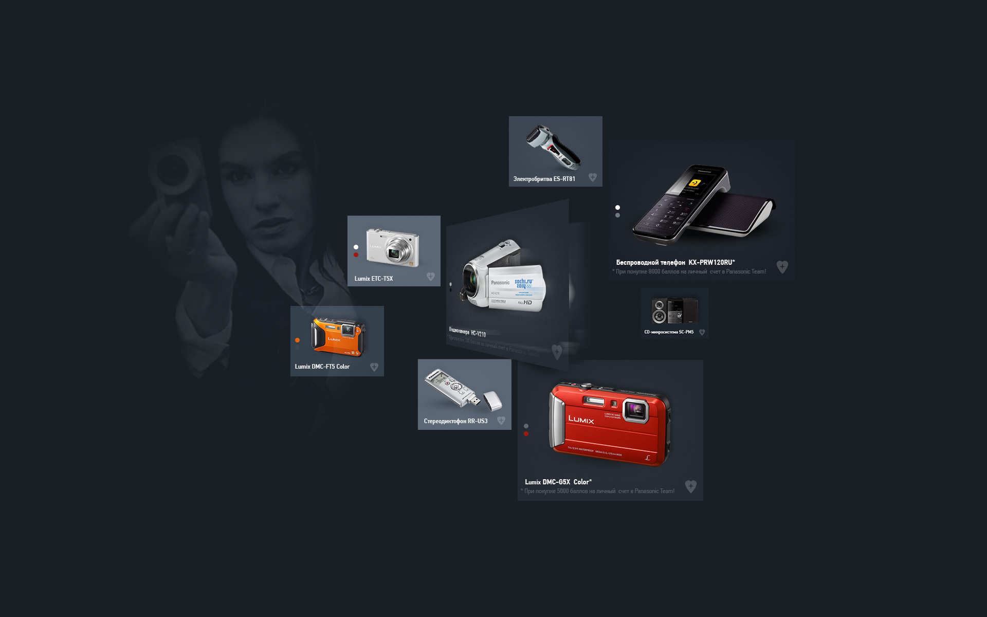 Panasonic Team user interface kit.
